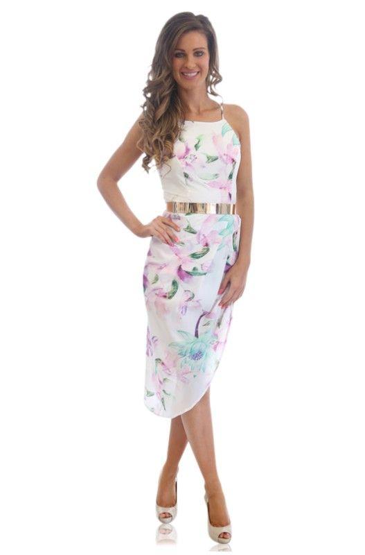 8baf59e4094 Floral Multi Side High Low Maxi Dress  ustrendy ustrendy.com ...