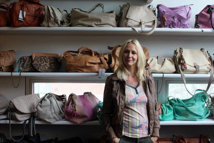 Carla Czudnowsky en el desayuno de prensa donde Lu Gagliardi presentó su Colección Primavera Verano 12' de carteras y bolsos de cuero