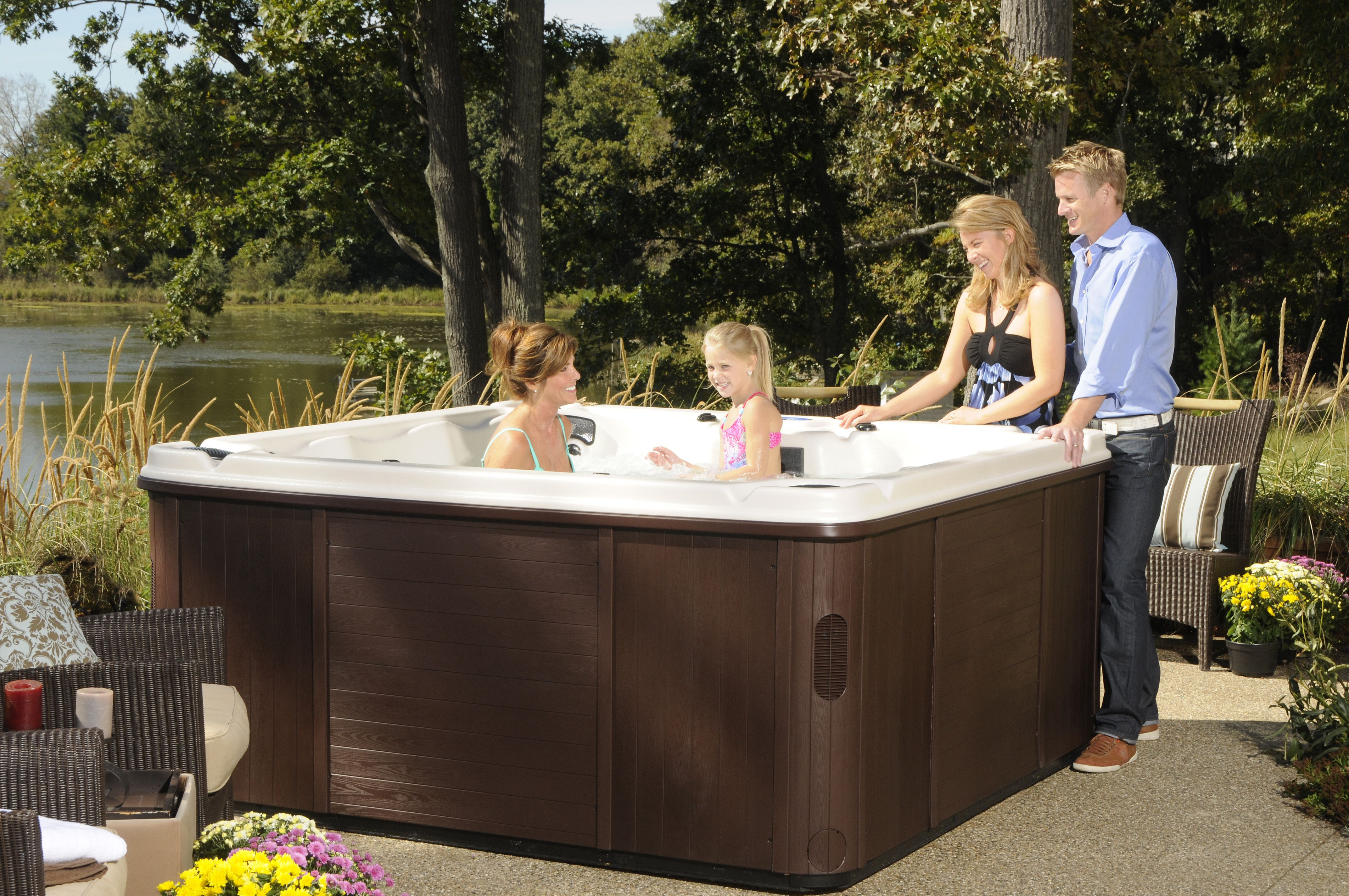 Family Time In A Hot Tub Creates A Place For Everyone To Spend