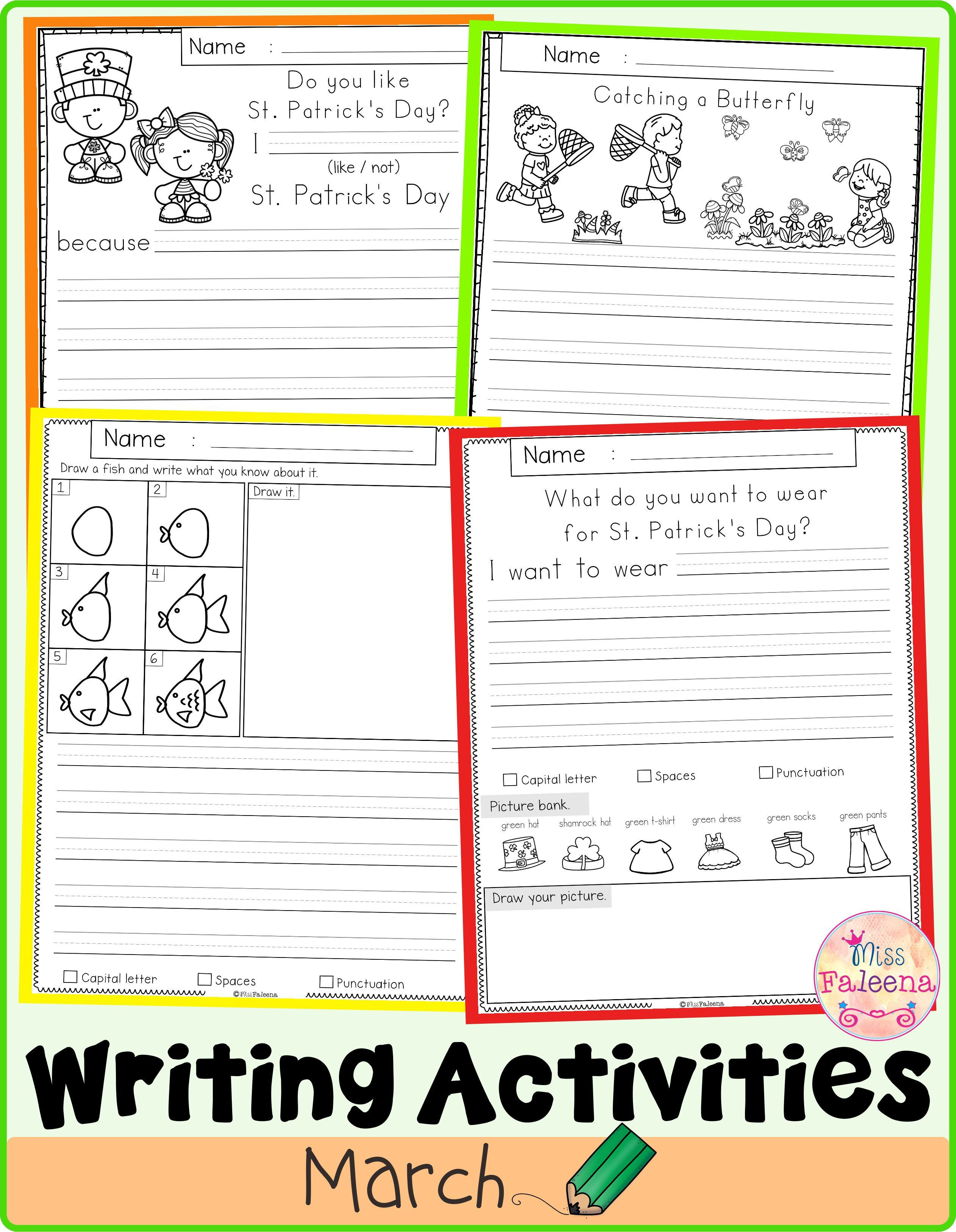 March Writing Activities