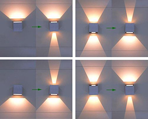 Led Aluminum Waterproof Wall Lamp 12w 85 225v 3200k Adjustable Outdoor Wall Light Warm Light 2 Leds Bla Exterior Wall Light Outdoor Wall Lighting Wall Lights