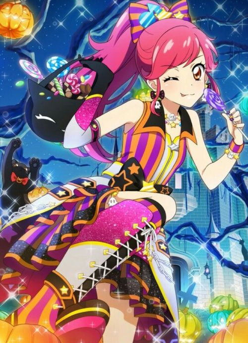 Beautiful Colorful Girls Anime Sakura Wallpaper Halloween Anime Girl Trick Or Treat Cat Candy Sweets Cute