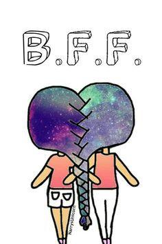 Cool drawings broken friendship. Best friend hair braided