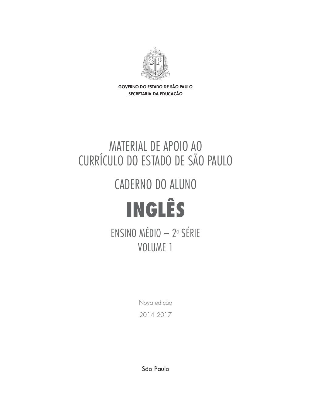 Material De Apoio Ao Curriculo Do Estado De Sao Paulo Caderno Do