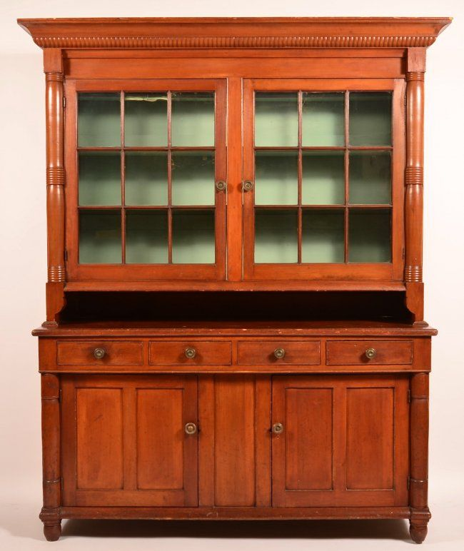 Pennsylvania Federal Dutch Cupboard May 16 2015 Conestoga Auction Company Division Of Hess Auction Group In Pa Cupboard Mixed Wood Furniture Restoration