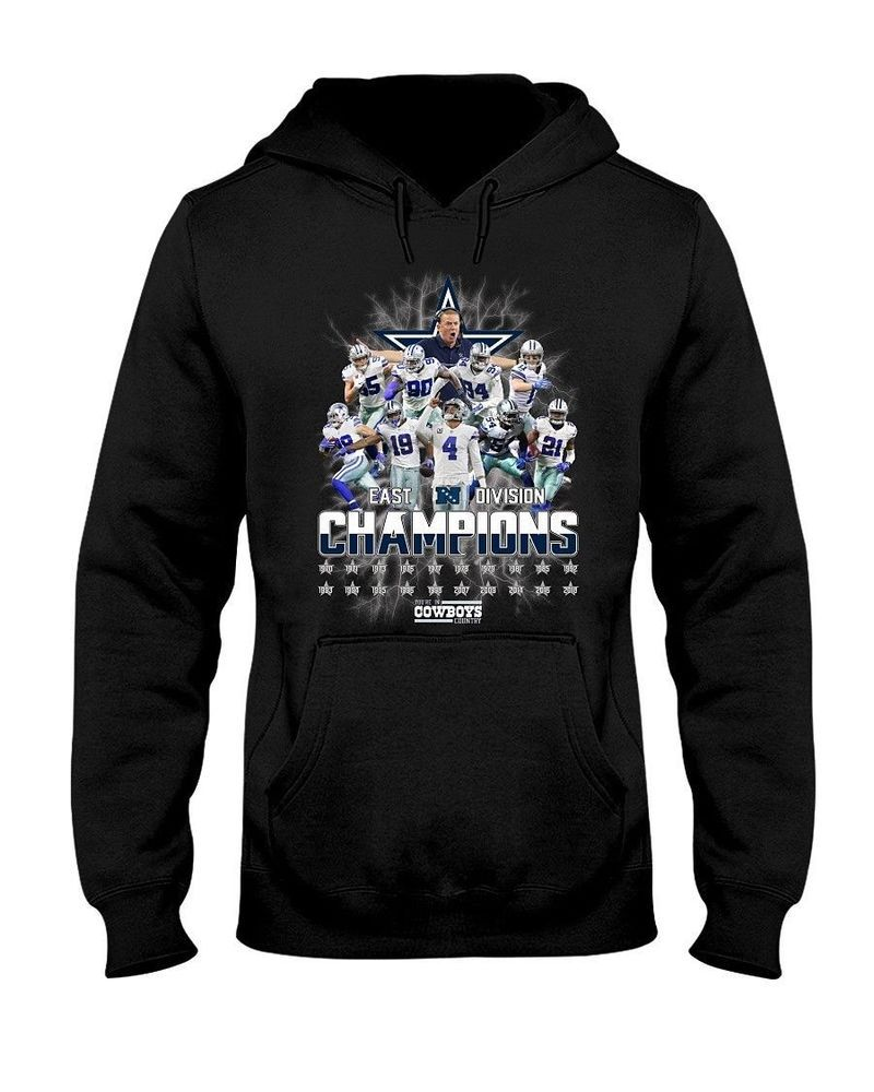 first rate 285f7 e1995 Dallas Cowboys East Divison Champions Men Black Hoodie S-3XL ...