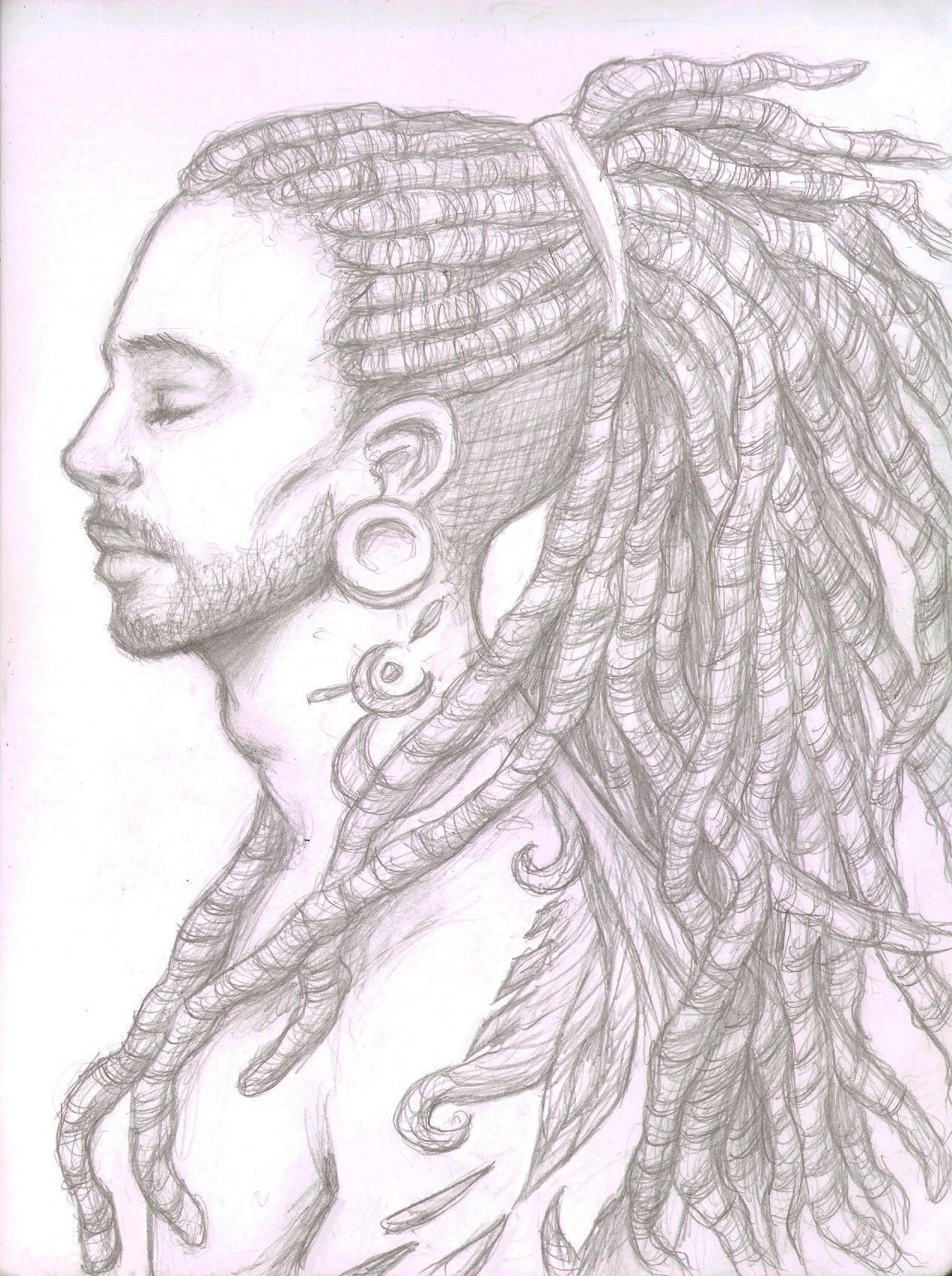 Dreads Drawing At Explore Collection Of