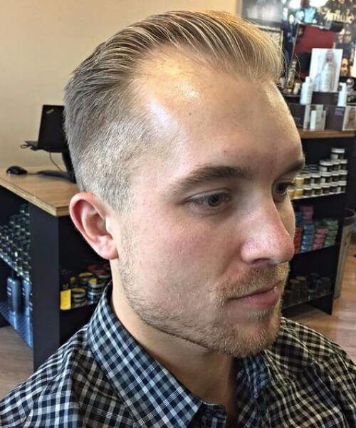 Receding Hairline Hairstyles Best Thinning Hair Hairstyles For Men With Receding Hairlines  メンズ