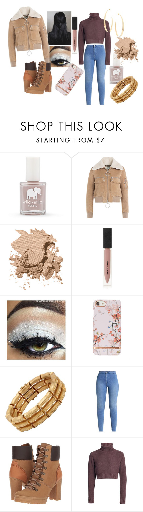 """Viola"" by jojohanakana on Polyvore featuring FOSSIL, Off-White, Bobbi Brown Cosmetics, Burberry, See by Chloé, Lana, pretty and polyvorefashion"