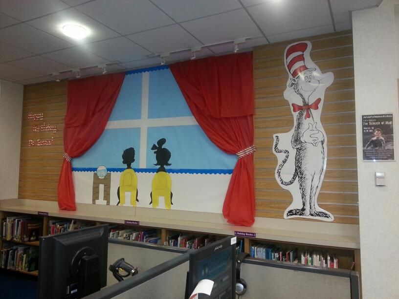 The Cat In The Hat Happy Birthday Dr Library Displays Decor