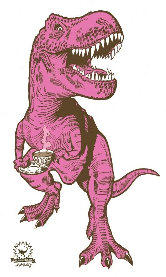 Cute Couple Wallpaper Iphone Ideas Pink Dinosaur Drinking Coffee Duuuh Dinosaur Art