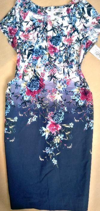 Wizytowa Sukienka Olowkowa Kieszenie Biala Niebieska Granat Kwiaty 46 Warszawa Wola Olx Pl Fashion Women Floral Tops