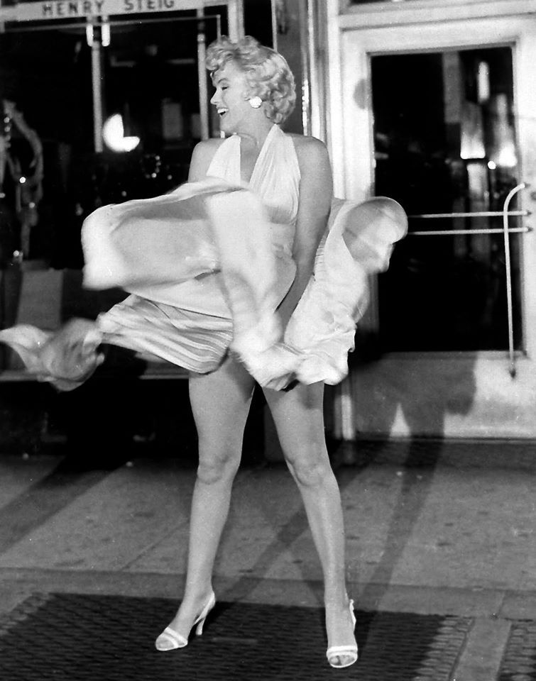 Some Like It Hot 1959 Marilyn Monroe With Her White Dress Over The