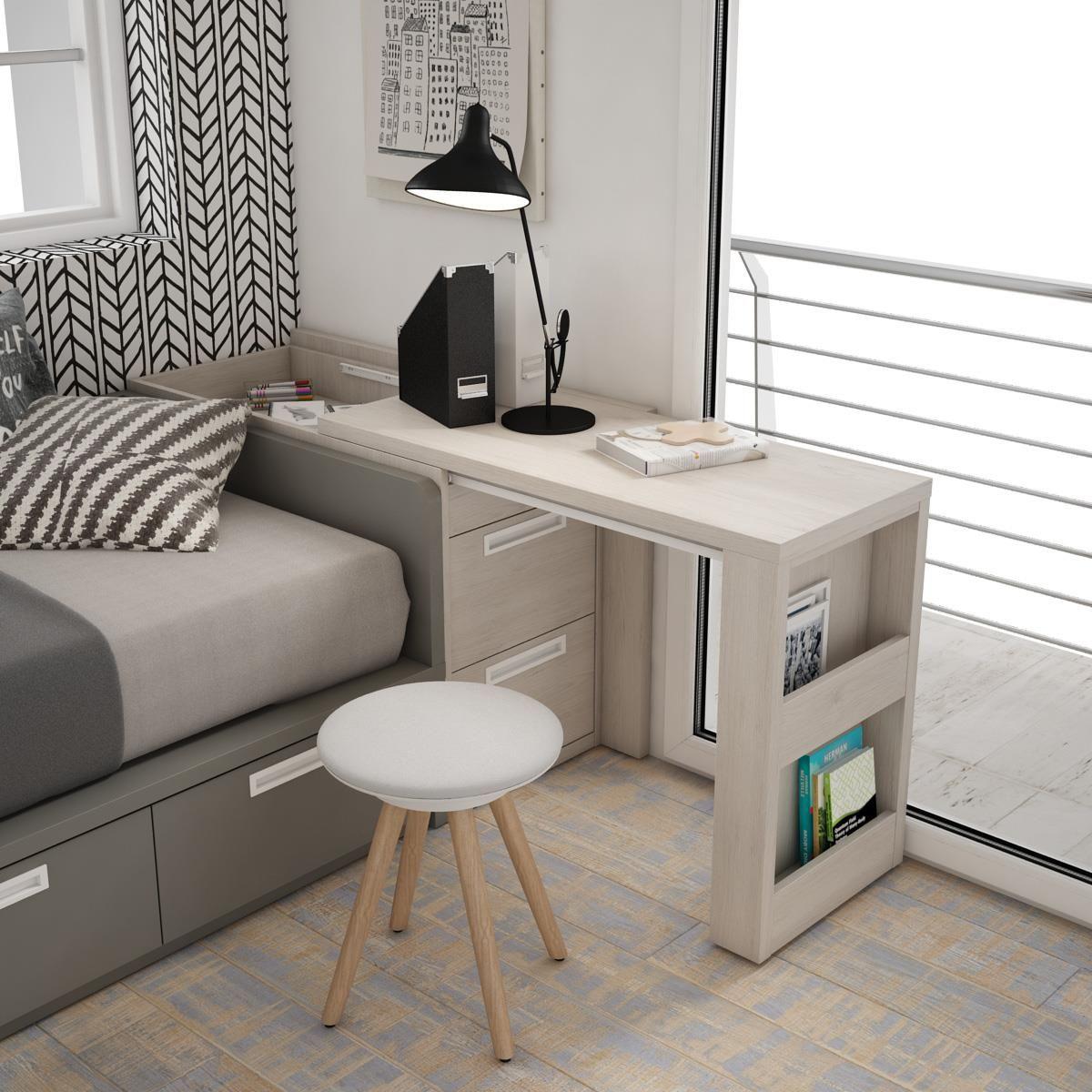 En habitaciones peque as donde el balc n coincide con la zona del escritorio c mo logramos un - Escritorios para habitaciones pequenas ...