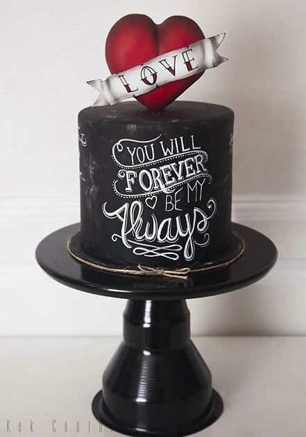 Airbrush Cake Decorating Designs : Chalkboard cake Cakespiration Pinterest Best ...