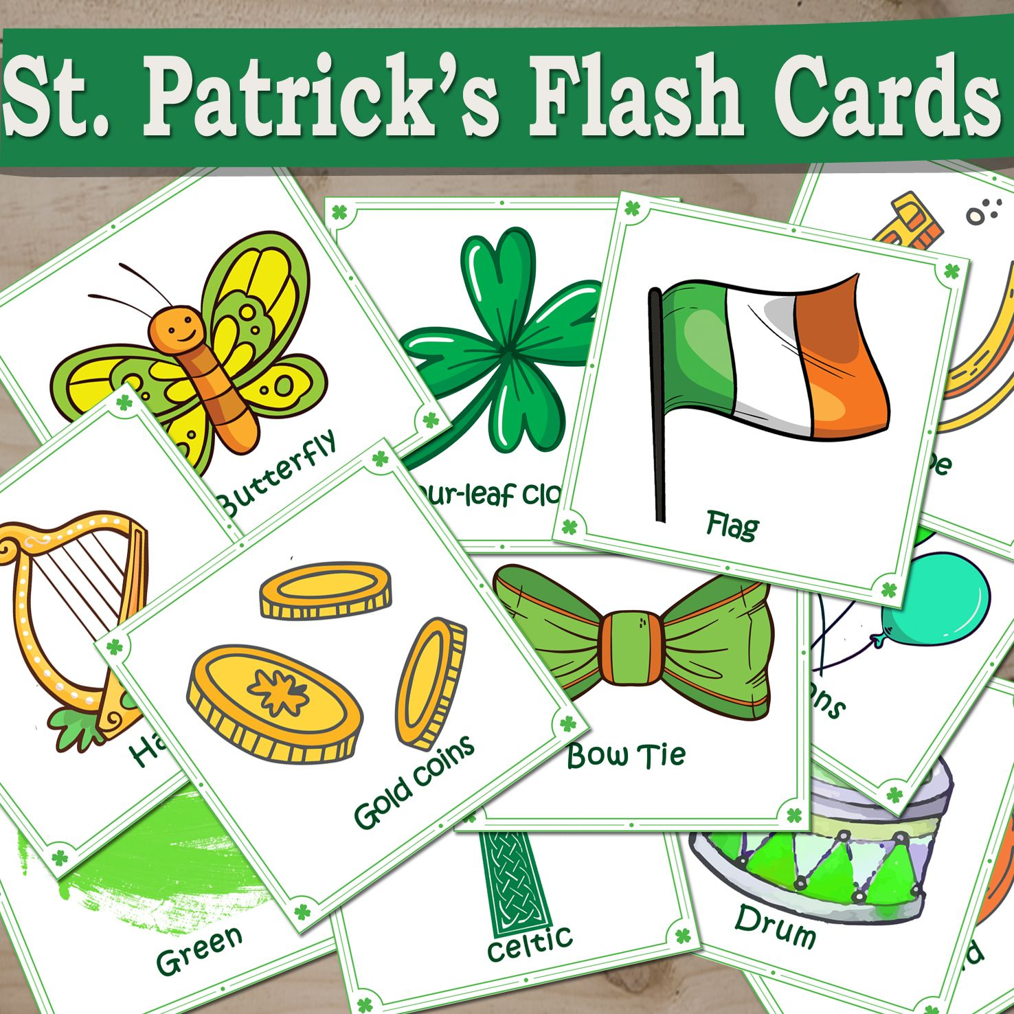 High Quality Printable St Patrick S Day Flash Cards In