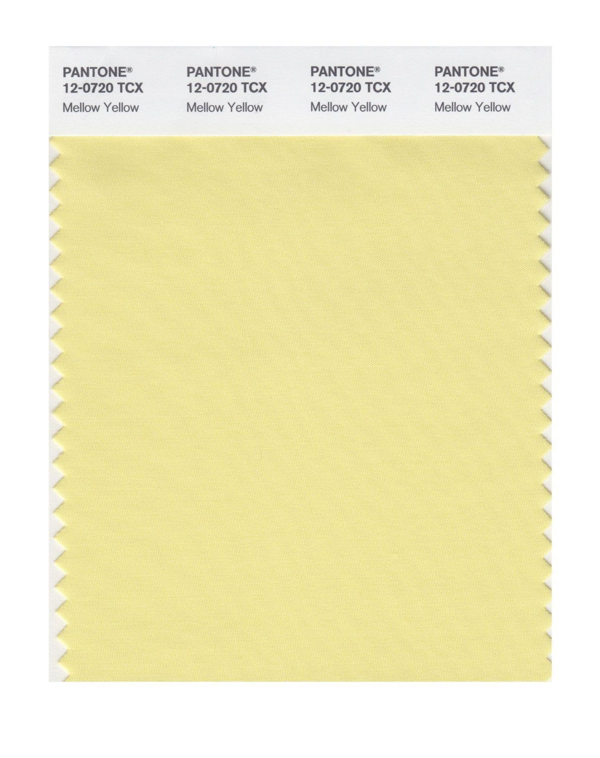 Pantone Smart Swatch 12-0720 Mellow Yellow   Yellows: Mixed in All ...