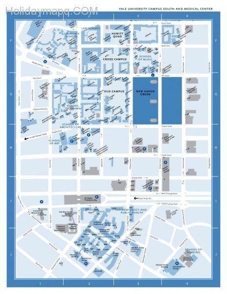 map of yale campus Map Of Yale Campus Campus Map Campus Yale University map of yale campus