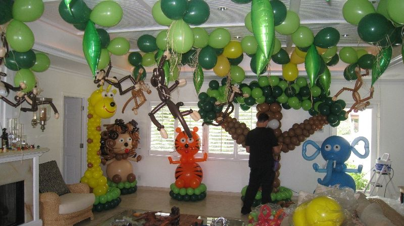 Jungle animal party i usually really really dislike for Animal party decoration