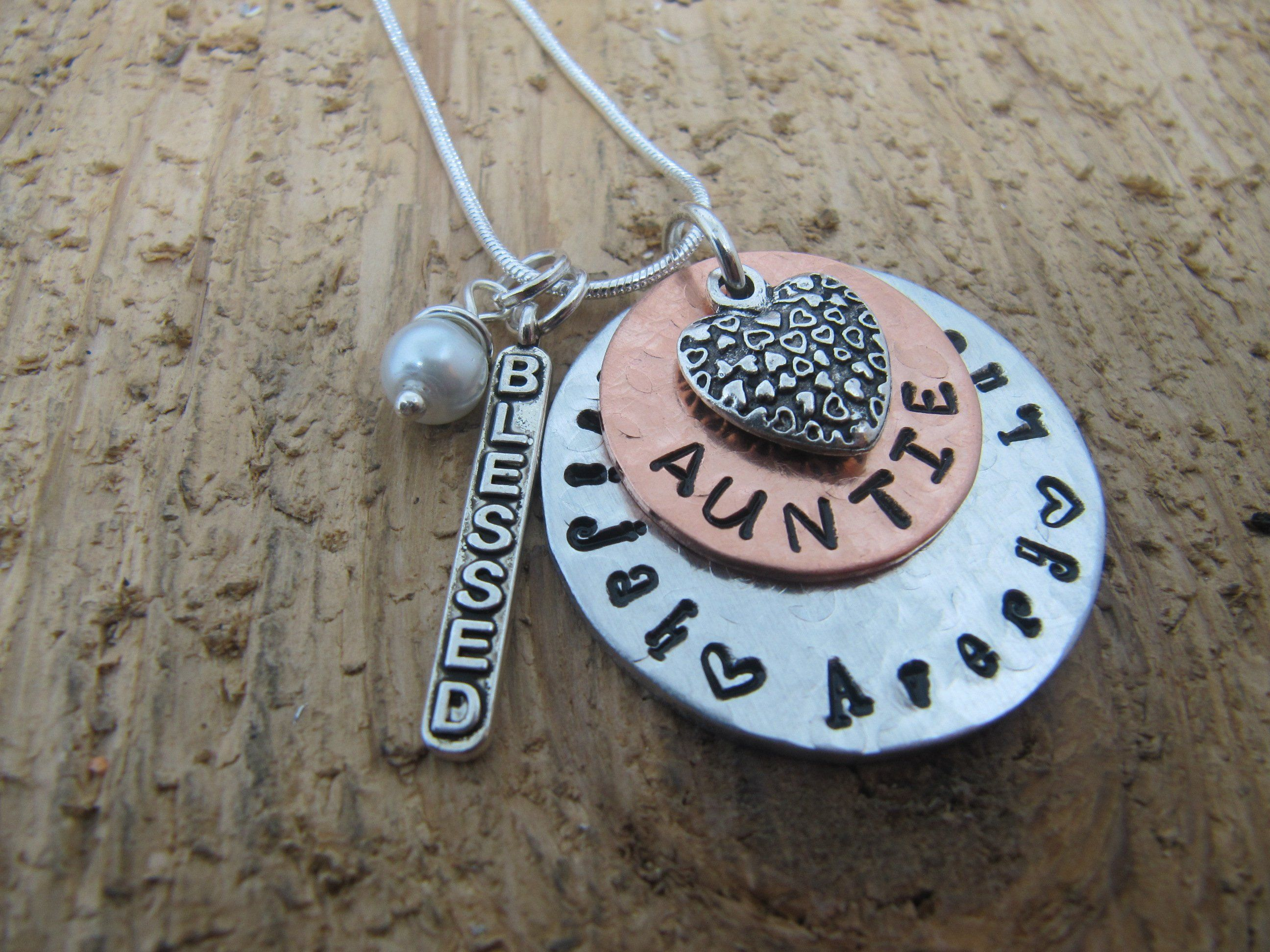 Aunt necklace grandma gift auntie necklace personalized