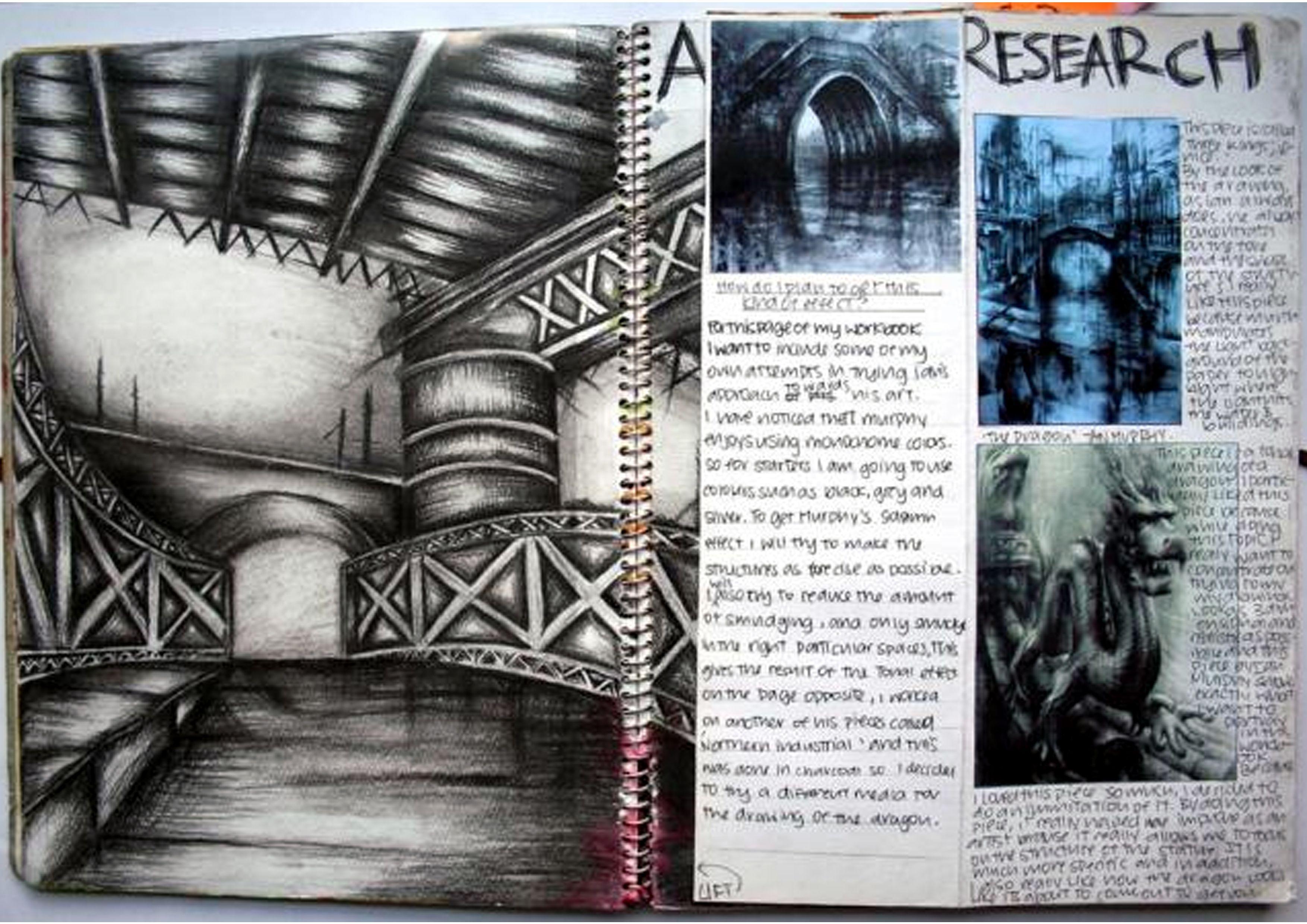 Gcse Art Sketchbook Layout Ideas