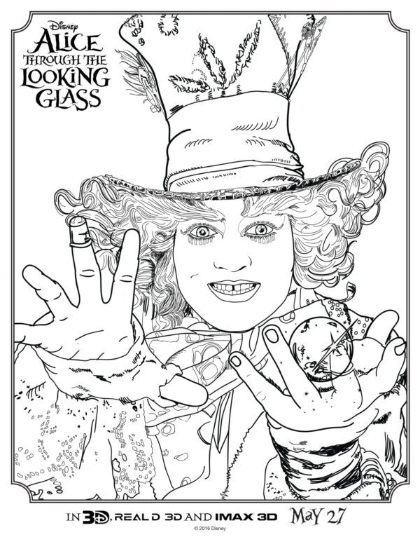 Download Fun Free Alice Through The Looking Glass Activities