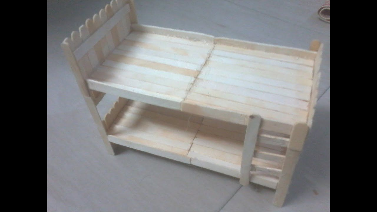 Diy how to make doll bunk bed using popsicle sticks ice cream diy how to make doll bunk bed using popsicle sticks ice cream sticks ccuart Choice Image