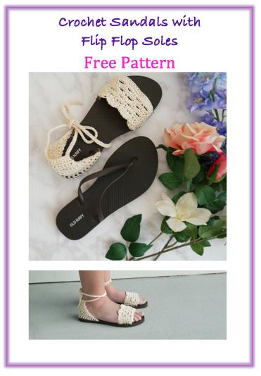ca95a3e0b5ecbb crochet sandals with flip flop sole free crochet pattern free video tutorial