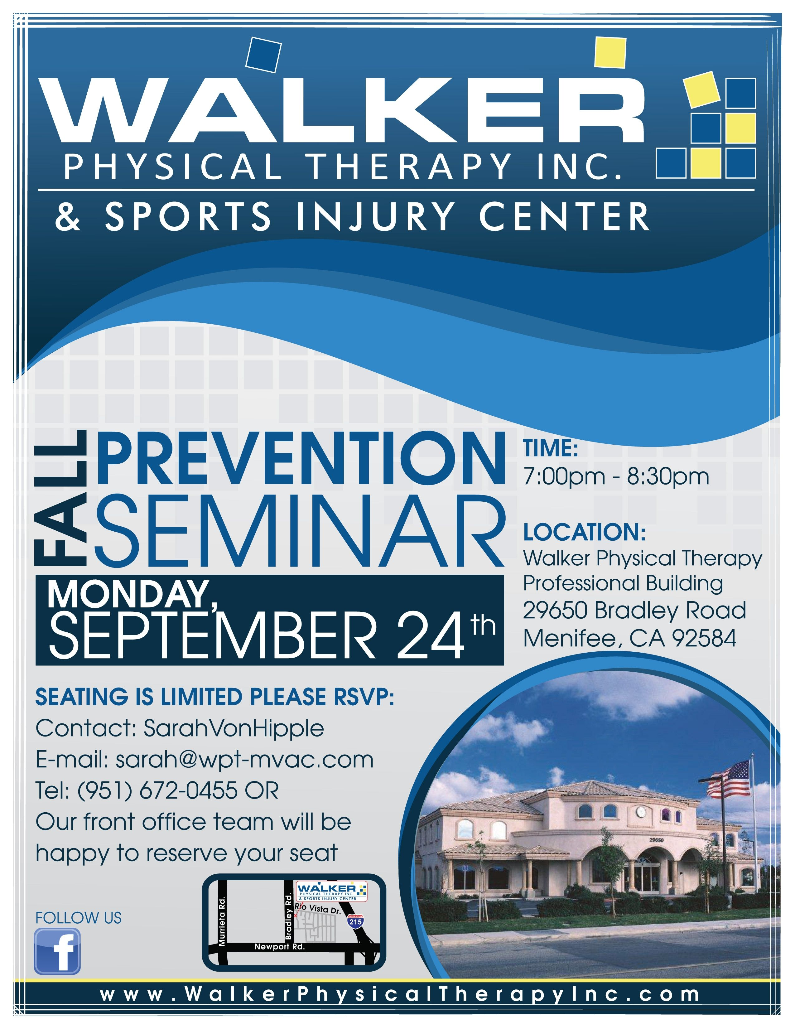 Fall Prevention Seminar Walker Physical Therapy & Sports