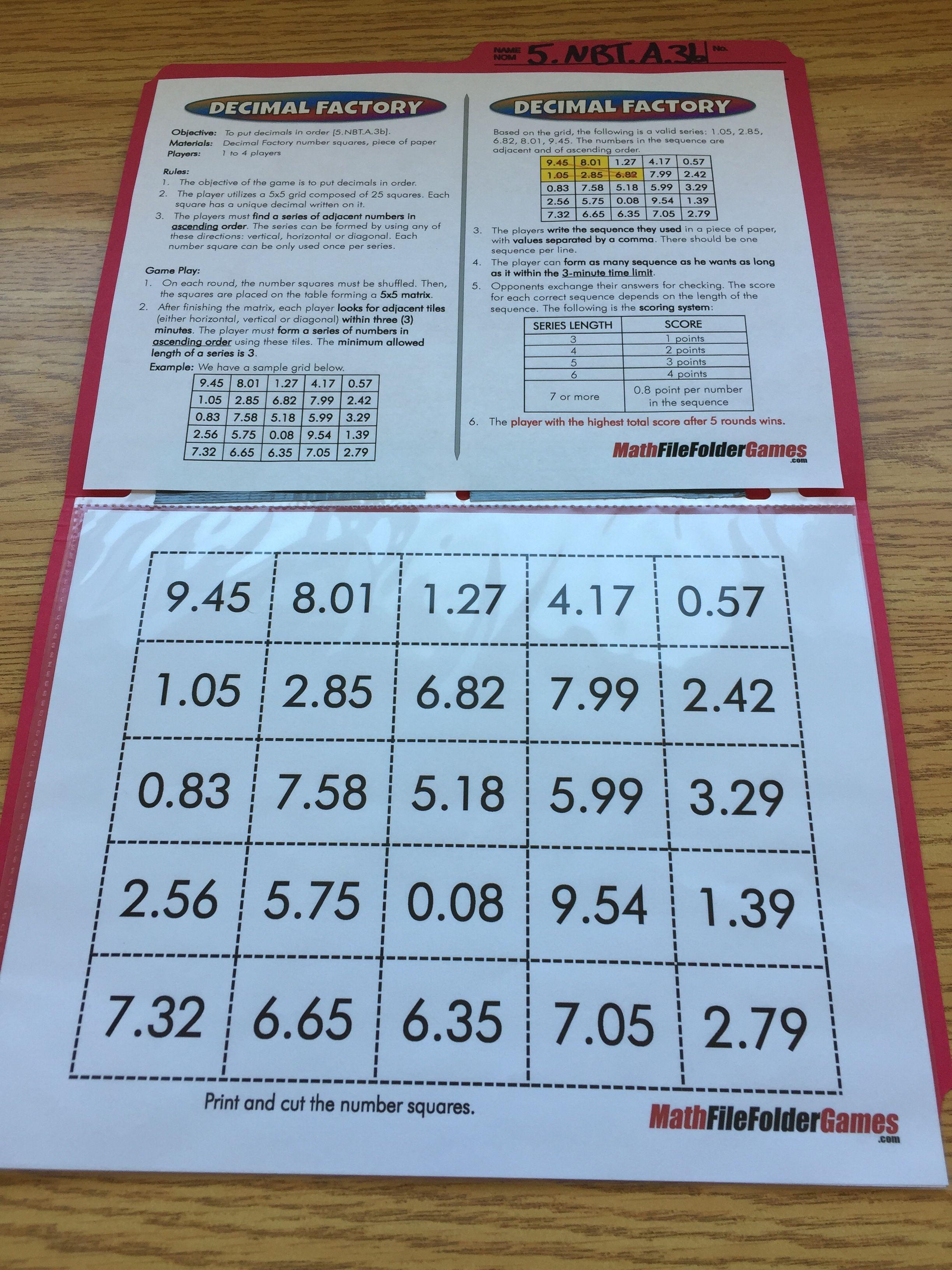 5th Grade File Folder Math Games Math Folders Math Games 5th Grade Math Games [ 3264 x 2448 Pixel ]