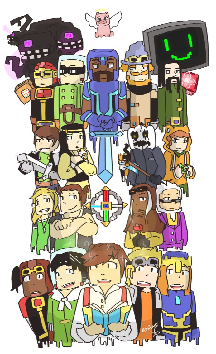 Minecraft StoryMode Artwork Representing Eppisodes ALL - Skin minecraft para la 1 8
