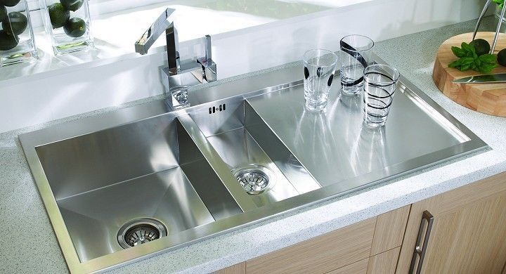 Square Kitchen Sink Counters And Cabinets Designer 1 5 Bowl In Stainless Steel Lh Or Rh Drainer Ebay