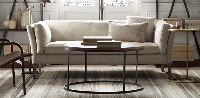Watts Reclaimed Oak Round Coffee Table | Restoration Hardware