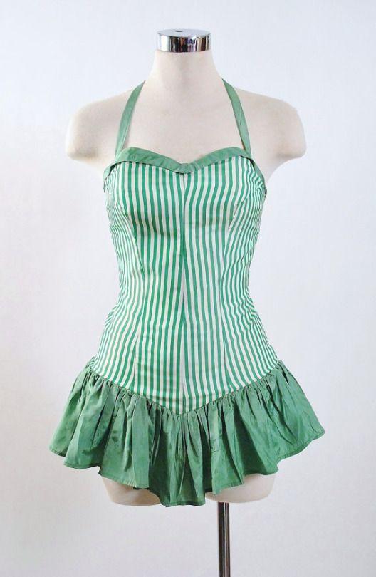 8e2651751bec7 1940′s playsuit Vintage Bathing Suits