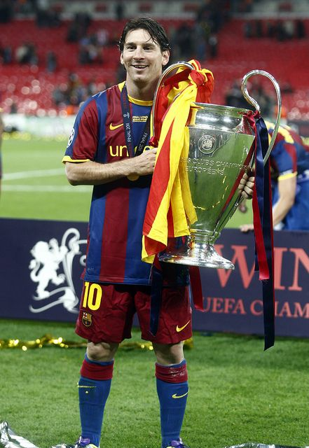 Messi | UEFA Champions League Trohpy by Herbalife Sports, via Flickr