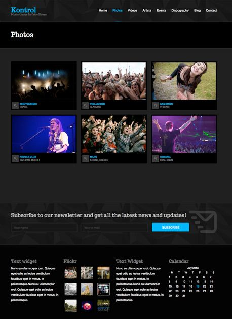 Kontrol a new WordPress theme for DJs, music artists, bands, radio stations and everyone in the music business.