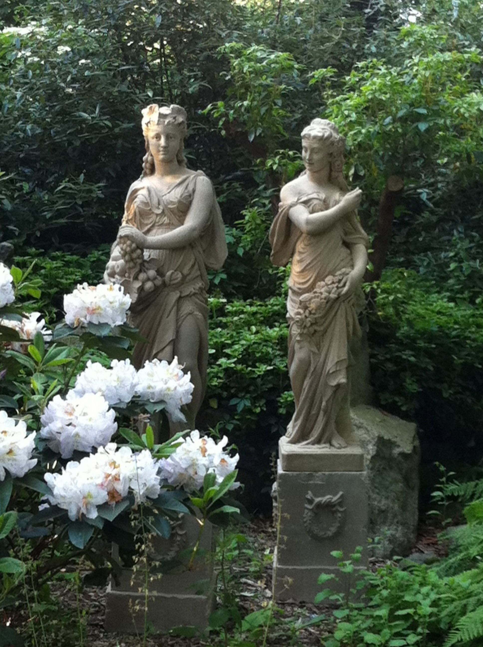The Somerset and Dorset Maidens shown on the classical pedestal ...