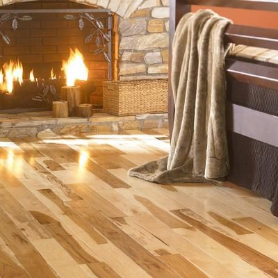 Mullican flooring 3 inch hickory natural 3 4 inch solid for Hardwood flooring 76262