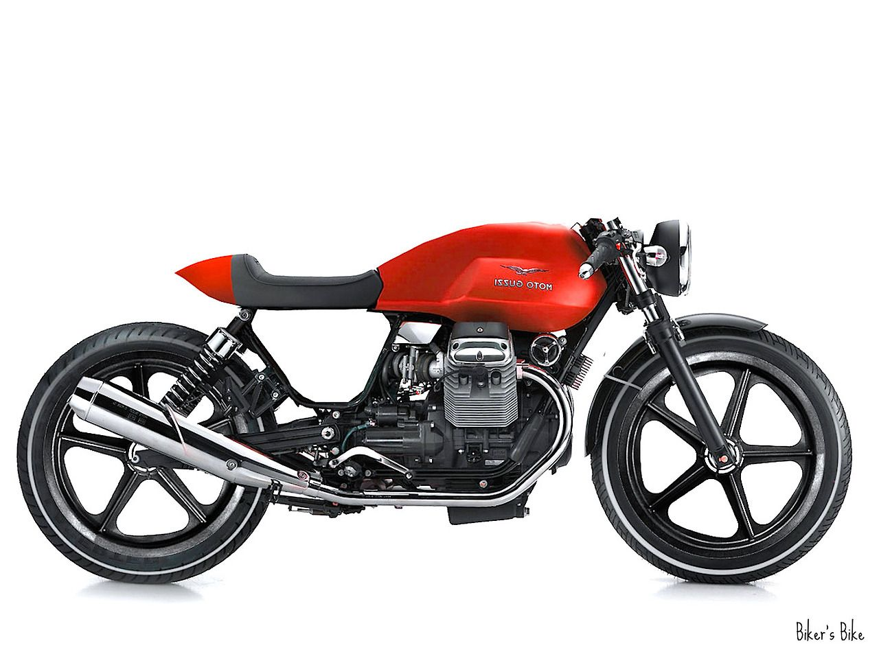 A Moto Guzzi. Saving this for reference on a practice rendering.