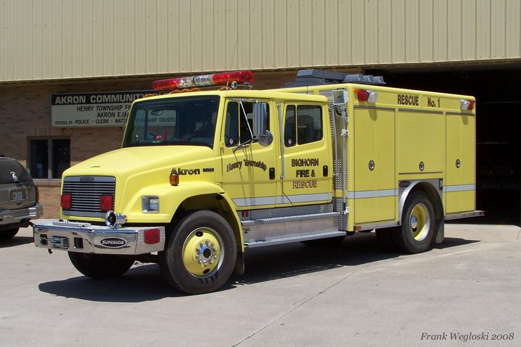 Akron Henry Township Fire Department Fire Trucks Rescue Vehicles Fire Department