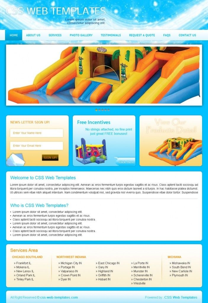 Bounce House Template Old Price 50 00 New Price 10 00 Product Id 2237 Order Now Http Www Cre Web Development Design Web Template Coupon Template