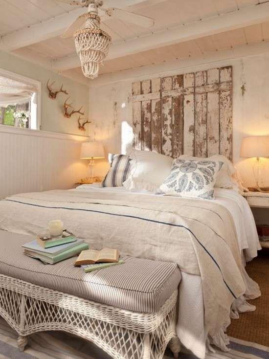Realizzare una testata letto fai da te - Camera da letto shabby ...