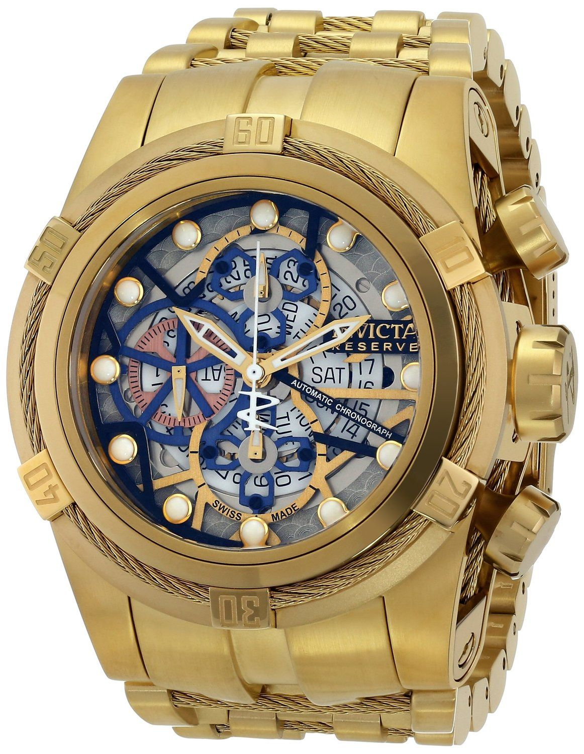 2a597404592 Gold watches for men Invicta