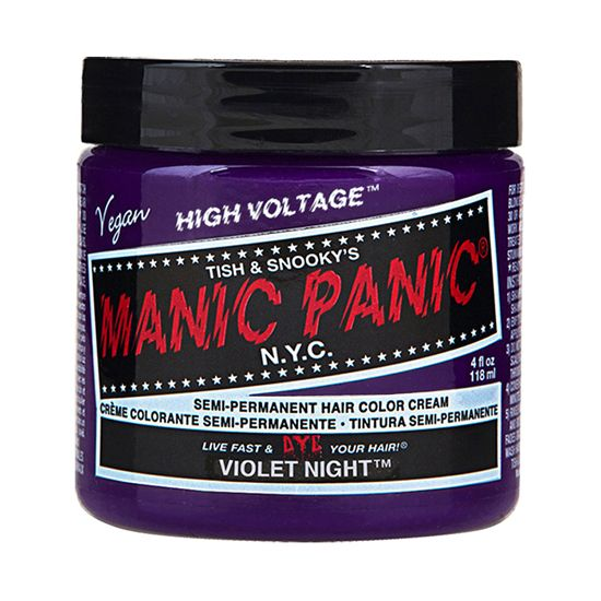 Manic Panic High Voltage Cream Hair Color Violet Night 4oz