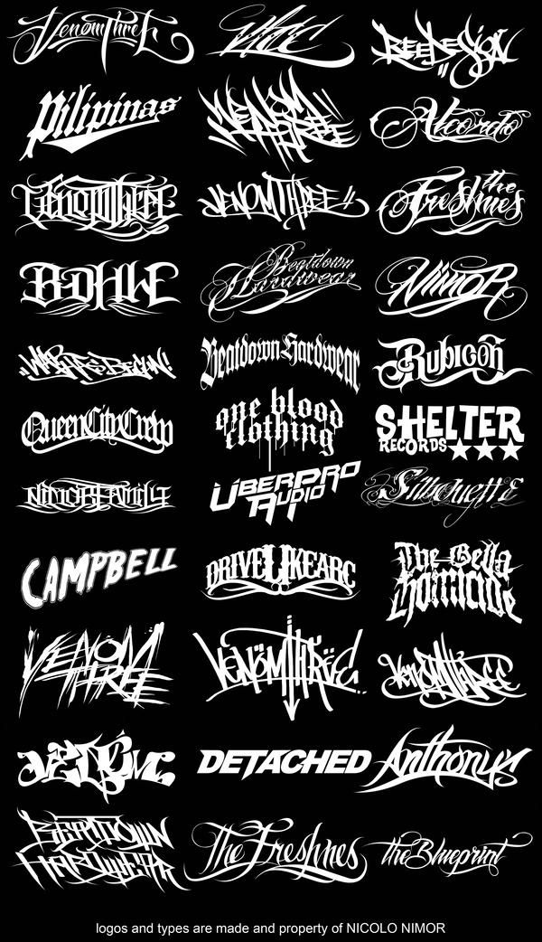 LOGOS AND TYPES is part of Tattoo lettering - a couple of logos and types that i made for my clients   LOGOS AND TYPES