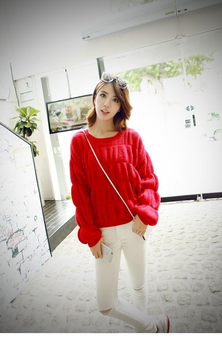 CW05848 Autumn long sleeve round neck thermal sweater for women