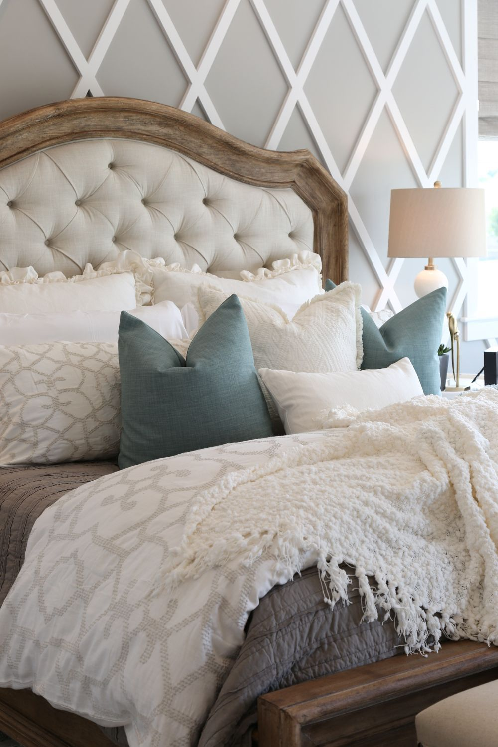 Modern french country home tour pinterest french country bedding