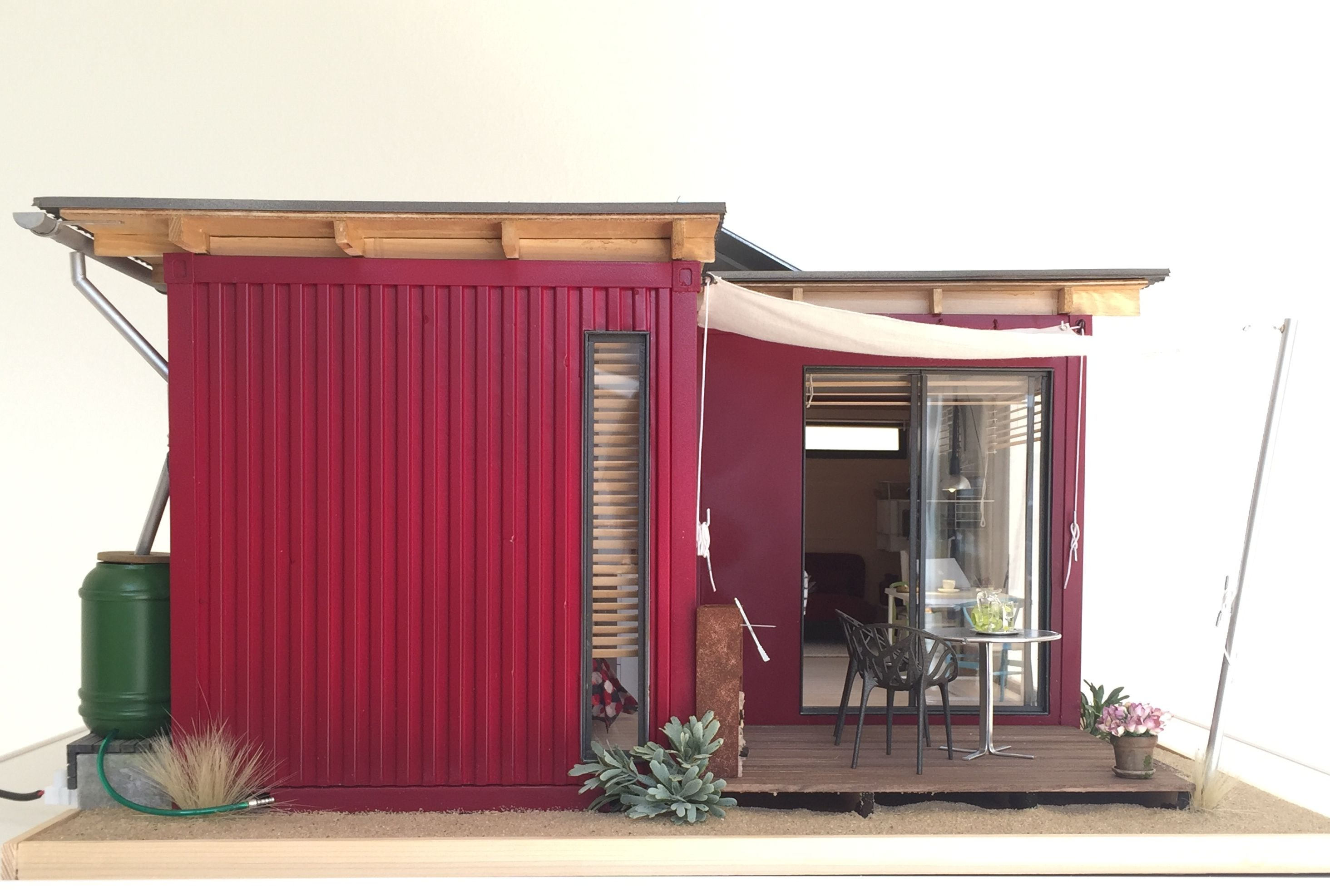 Container House Model View 1 12 Scale Shipping