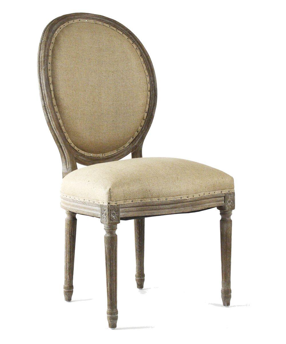 Medallion Side Chair Limed Grey Oak With Hemp Linen