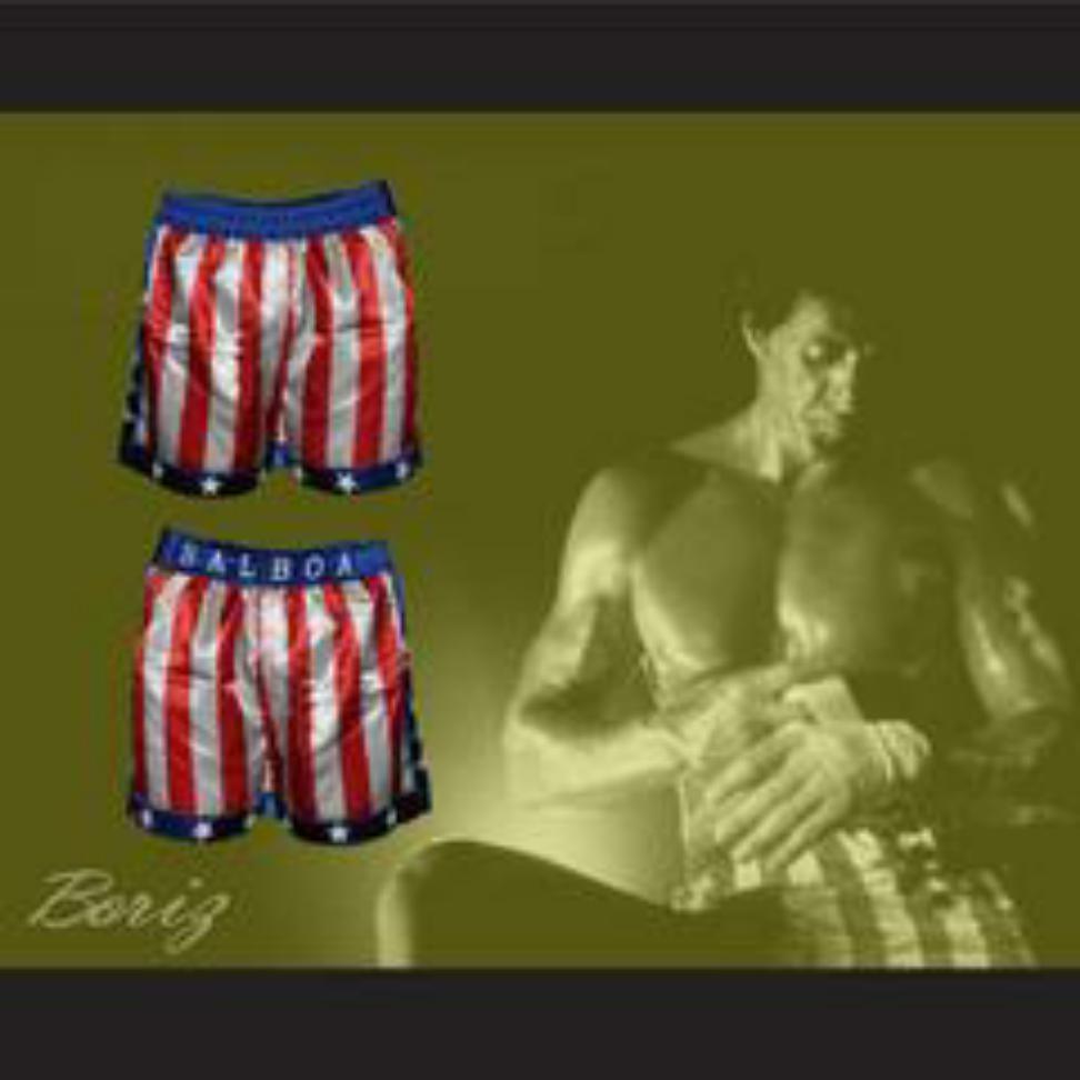 Sylvester Stallone Rocky Balboa American Flag Boxing Shorts All Sizes Boxing Shorts Rocky Balboa Sylvester Stallone